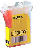 Brother LC800Y yellow ink cartridge