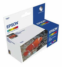 Epson T027 colour ink cartridge