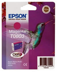 Epson T0803 magenta ink cartridge